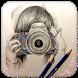 Pencil Sketch Photo - Original by Rapid LLC