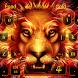 Fire lion Keyboard by Keyboard Design Paradise