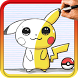 How to draw Pokemon Characters by Drawings Apps