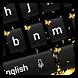 Black Gold Keyboard by Cool Keyboard Theme Studio