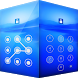 Applock Theme Blue by Themes for applock screen