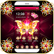 Golden Butterfly Dark Pink Gemstone Theme by Hot & Cool Theme