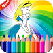 coloring Alice on Wonderlandd go by DEVGO
