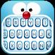 Blue Cat Theme&Emoji Keyboard by Fun Emoji Theme Creator