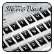Silver Black Keyboard Theme by Keyboard Dreamer