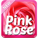 Pink Rose Keyboard by SuperColor Themes