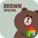 Brown.S LINE Launcher theme by Camp Mobile for dodol theme