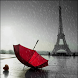 Rainy Red Umbrella LWP by Daksh Apps