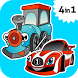 Car & Train games for toddlers by Emerald Games