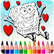How To Color SpongeBob SquarePants by FreeColoringAppsForKids
