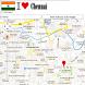Chennai map by Borgo Map