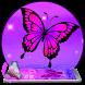 purple blue butterfly theme