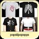 Custom T-shirt Design Ideas by Papskipap Apps