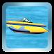 Motorboat Cruising Waterway by Online Game Free