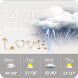 Free Weather Widget Clock Love by Weather Studio