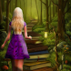 Princess Running to Jungle by Temple.FREE