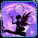 Purple crescent fairy theme