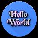 Hello World (shake the phone)