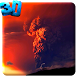 Volcanic Eruption Wallpaper by JimmyTummy