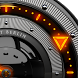 FIRE Laser Analog Clock Widget by SaintBerlin