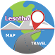 Lesotho map travel by MAP World Travel Destinations