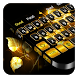 Gold Rose Keyboard by Cool Theme Studio
