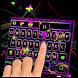 Neon ray keyboard by Echo Keyboard Theme