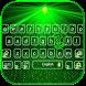 Green laser Keyboard Theme Neon Light by Creative Beauty Studio