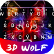 3D Wolf Theme&Emoji Keyboard by Best Keyboard Theme Design