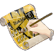 Black Splatter GO Keyboard by GO Themes