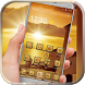 Golden sunset theme by Neon launcher theme - wallpapers
