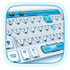 white 3d typewriter keyboard blue control