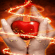 Red Heart Shine LWP by Daksh Apps