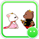 Stickey Acting Bear and Cat by Awesapp Limited