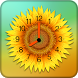Sunflower Clock Live Wallpaper by QuickPopApps