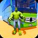 Superhero Big Bus Stunts Drive by We Play Studio