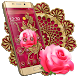 Rich Gold Rose Theme by Android Themes & Live Wallpapers