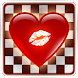Checkers kiss love