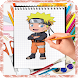 How To Draw Naruto step by Step by kidsaps