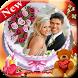 Couple Name & Photo On Wedding Anniversary Cake
