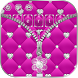 Pink Sparkle Zipper Girly Diamond Keyboard by The Best Android Themes