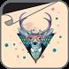 Hipster Deer Wallpaper by ShySlug