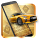 Cool Gold Car Keyboard Theme by Pretty Cool Keyboard Theme