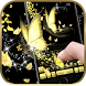 Gold butterfly Keyboard Theme by hot keyboard themes
