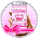 Pink Glitter Heart Theme by Hot & Cool Theme