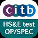 CITB op/spec HS&E test 2016 by CITB