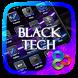 Black Tech Go Launcher Theme by Freedom Design