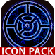 OUTLINE BLUE icon pack black by Tapanifinal