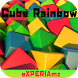Тема eXPERIAmz - Cube Rainbow by ChatApps
