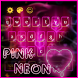 Neon Pink Heart Keyboard by M Typewriter Theme Studio